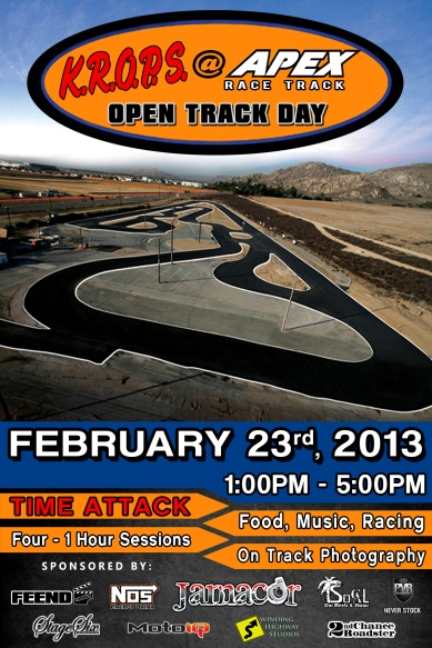 2013.2.23 - Apex Track Day Flyer FRONT