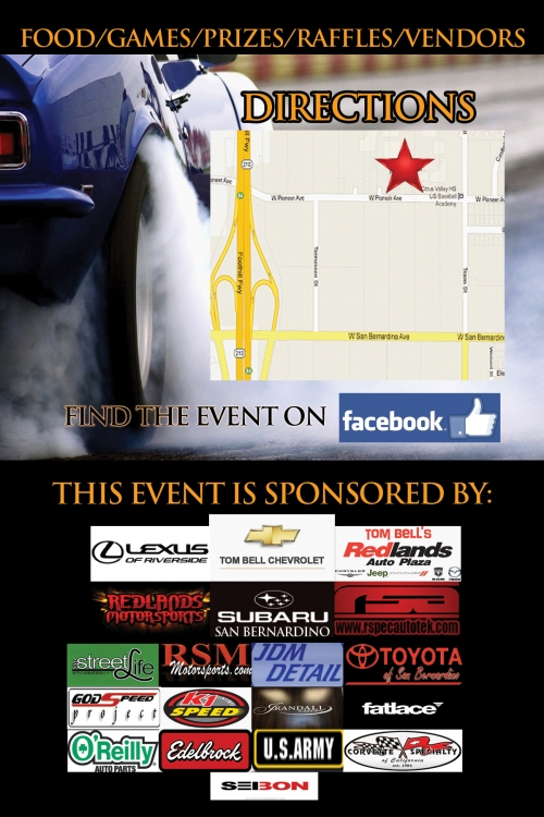 redlands car club flyer back