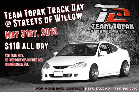 Team Topak Track Day Flyer